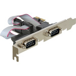 DeLock PCI Express Card 2 x Serial - Serieller Adapter - PCI Express x1 Low Profile 89220