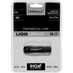 Intenso USB Stick 16GB 3502470 Rainbow Line USB 2.0 schwarz