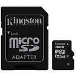 Kingston SD (Secure Digital) 16GB SDC4/16GBSP microSDHC Class 4