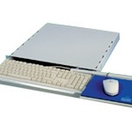 ApraNET Rack - Tastaturablage mit Mauspad - Hellgrau, RAL 7035 - 1U - 19