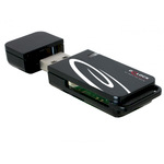 DeLock USB 2.0 CardReader 18 in 1 - Kartenleser - 18 in 1 ( MMC, SD, miniSD, RS-MMC, TransFlash, MMCmobile, microSD, MMCplus, MMCmicro, SDHC, microSDH