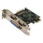 Logilink Adapter Parallel/Seriell - PCI Express x1 - parallel, Seriell - 3 Anschlüsse PC0033