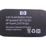 HP Speichersicherungsbatterie - 1 x NiMH 500 mAh 307132-001