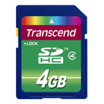 Transcend Flash-Speicherkarte 4GB TS4GSDHC4