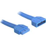 Delock USB-Verlängerungskabel 82943 45 cm Blau