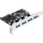 DeLock PCI Express Card > 4 x USB 3.0 - USB-Adapter - PCI Express 2.0 x1 89297