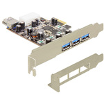 DeLock PCI Express Card > 3 x extern + 1 x intern USB 3.0 - USB-Adapter - PCI Express x1 89281