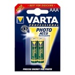 Varta Professional Photo Accu - Batterie 2 x AAA Typ NiMH 1000 mAh 5703301402