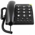 Doro PhoneEasy 311c - Telefon mit Schnur - Schwarz 380001