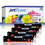 jetType Toner Multipack kompatibel zu HP CE320A/21A/22A/23A 128A