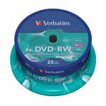 Verbatim DVD-RW 4,7GB/120 Min 25er Spindel 43639