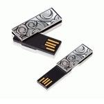 Transcend USB Stick 4GB TS4GJFV90C JetFlash Luxury Series V90C USB 2.0 silber gemustert
