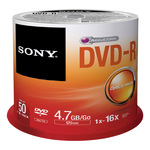 Sony DVD-R 4,7GB/120 Min 50er Spindel 50DMR47SP