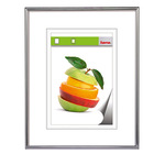 Hama Bilderrahmen Sevilla Dekor 70 x 100 cm (B x H) 50 x 70 cm (B x H) Reflexglas Kunststoff silber matt