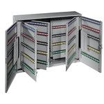 Format Schlüsselschrank S 73 x 55 x 14 cm (B x H x T) inkl. 2 Schlüssel Stahlblech lichtgrau