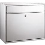 ALCO Briefkasten 36 x 31 x 15 cm (B x H x T) Stahl, lackiert silber