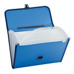 Fächertasche DIN A4 blanko Polypropylen blau 12 Fächer