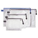 Reißverschlusstasche DIN A5 PVC blau