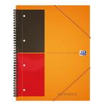Oxford Collegeblock International Meetingbook DIN A4+ liniert mit Rand innen/außen 80g/m² orange/grau/rot 80 Bl.