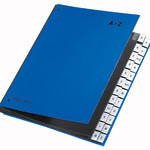 PAGNA Pultordner DIN A4 A-Z Papier, Polypropylen veredelt blau 24 Fächer