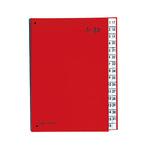 PAGNA Pultordner DIN A4 1-31 Papier, Polypropylen veredelt rot 32 Fächer