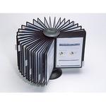 DURABLE Sichttafelständer SHERPA® CAROUSEL 40 44 x 30 x 25 cm (B x H x T) Polypropylen 40 Sichttafeln schwarz