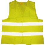 Warnweste Einheitsgröße reflektierend Klettverschluss 100 % Polyester gelb