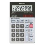 Sharp Taschenrechner EL-W211G 1 x 10-stellig schwarz/weiß Solar-Energie, Batterie