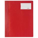 DURABLE Schnellhefter DIN A4, Überbreite Hartfolie rot