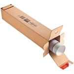 ColomPac® Versandhülse 10,8 x 10,8 x 43 cm (B x H x L) mit Selbstklebung Kraftliner Wellpappe braun