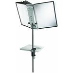 DURABLE Sichttafelständer SHERPA® Display System Desk Clamp 10 25 x 60 x 8,8 cm (B x H x T) Polypropylen/Stahl/ABS 10 Sichttafeln schwarz