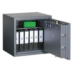 Format Sicherheitsschrank Libra 10 Innenmaße: 528 x 535 x 365 mm (B x H x T) 135mm Doppelbartschloss Stahlblech graphitgrau, lichtgrau