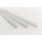 GBC® Drahtbinderücken WireBind DIN A4 8mm silber 100 St./Pack.
