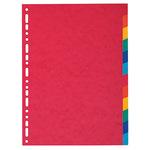 Exacompta Ordnerregister Nature Future® DIN A4 blanko Manilakarton mehrfarbig 12 Registerblätter