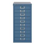 Bisley Schubladenschrank MultiDrawer™ 279 x 590 x 380 mm (B x H x T) 10 Schubfächer Stahl Farbe: blau