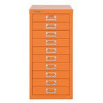 Bisley Schubladenschrank MultiDrawer™ 279 x 590 x 380 mm (B x H x T) 10 Schubfächer Stahl Farbe: orange