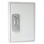 WEDO® Schlüsselschrank 30 x 45 x 9,5 cm (B x H x T) inkl. 2 Schlüssel Stahlblech, pulverbeschichtet lichtgrau