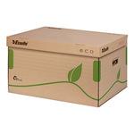 Esselte Archivbox ECO 43,9 x 24,2 x 34,5 cm (B x H x T) DIN A4 mit Archivdruck Recyclingkarton naturbraun