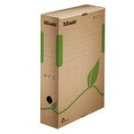 Esselte Archivbox ECO 8 x 32,7 x 23,3 cm (B x H x T) DIN A4 mit Archivdruck Wellpappe, 100 % recycelt naturbraun