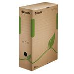 Esselte Archivbox ECO 10 x 32,7 x 23,3 cm (B x H x T) DIN A4 mit Archivdruck Wellpappe, 100 % recycelt naturbraun