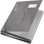Leitz Unterschriftenmappe Design DIN A4 Graupappe, Polypropylen kaschiert grau grau 18 Fächer
