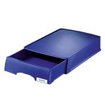 Leitz Briefablage Plus DIN A4 Polystyrol Farbe: blau