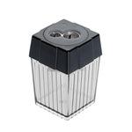 ALCO Doppelspitzdose 7,8 und 11mm quadratisch Material des Spitzers: Stahl Material des Behälters: Polystyrol rauch/transparent