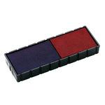 COLOP® Stempelersatzkissen E12/2 Mini-Dater S120WD 47 x 10 mm (B x H) dokumentenecht blau/rot