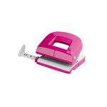 NOVUS Locher E 216 8 cm 16 Bl. (80 g/m²) mit Anschlagschiene pink