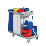 FILMOP Reinigungswagen Alpha blau, rot, grau