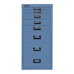 Bisley Schubladenschrank MultiDrawer™ 279 x 590 x 380 mm (B x H x T) 8 Schubfächer Stahl Farbe: blau