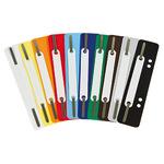 Soennecken Heftstreifen 3,4 x 15 cm (B x H) Polypropylen je 25 x weiß, gelb, orange, rot, hellblau, dunkelblau, dunkelgrün, grau, braun, schwarz 250 St./Pack.