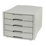 Soennecken Schubladenbox 4 Schubfächer DIN A4 Polystyrol Gehäusefarbe: lichtgrau Farbe der Schublade: lichtgrau