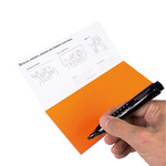 Moderationskarte Notes M 20 x 10 cm (B x H) Polypropylen, recyclebar orange